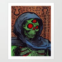 occult Art Prints featuring Occult Macabre by Chris Moet