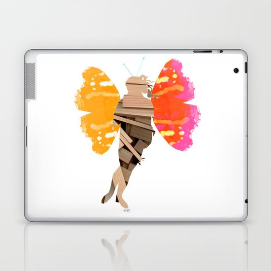 Botticellis Venus - WoodCut Collage Laptop & iPad Skin