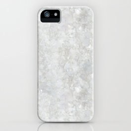 White Apophyllite Close-Up Crystal iPhone Case