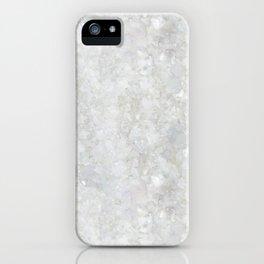 White Apophyllite Close-Up Crystal iPhone Case