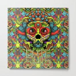 Cute Skull Dia de Los Muertos Metal Print