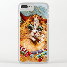 "Louis Wain's Cats ""Tom Smith's Crackers"" Clear iPhone Case"