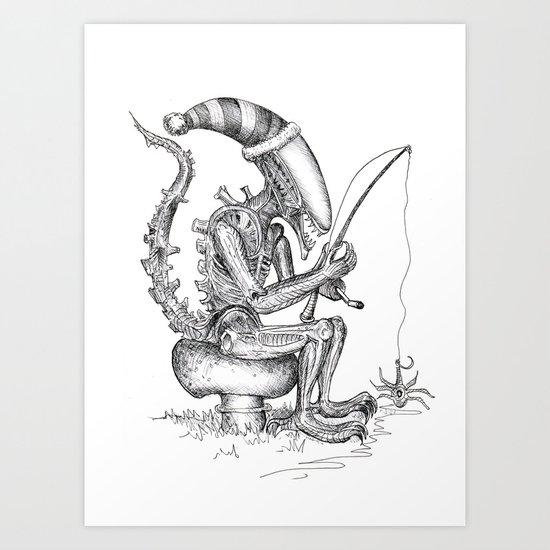 Alien gnome Art Print