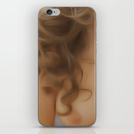 Wavy Hair iPhone Skin