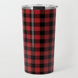 Buffalo Plaid Travel Mug
