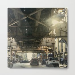 Under the El Metal Print