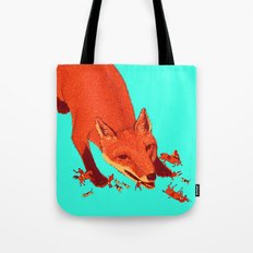 Fox Hunting  Tote Bag
