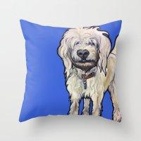 luigi Throw Pillows featuring Luigi by Pawblo Picasso