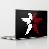infamous Laptop & iPad Skins featuring Infamous: Second Son - Jacket Bird Logo (Solid) by Dsavage94