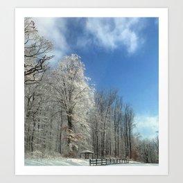 Frosty Winter Morning Art Print