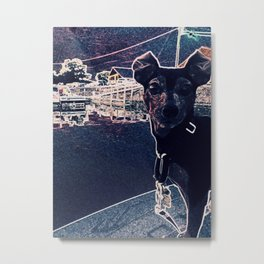 Min Pin on a boat Metal Print