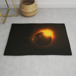 Total  Eclipse Astro Photography Rug