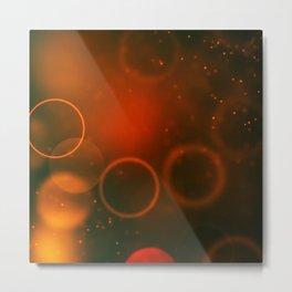 Red Christmas Abstract Metal Print