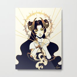 With a Dagger Metal Print