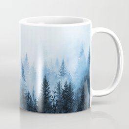 Misty Winter Forest Coffee Mug