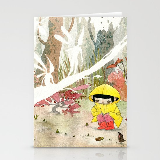 in the rain 1 Stationery Cards