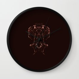 Woman Inside Wall Clock