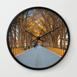 Golden Mall Promenade Wall Clock