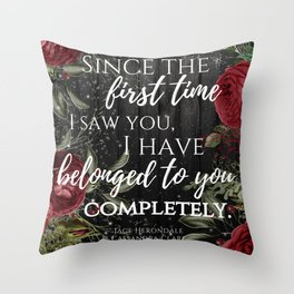 Jace Herondale Quote - The Mortal Instruments Throw Pillow