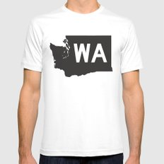 SEATTLE WASHINGTON//FIVE Mens Fitted Tee MEDIUM White