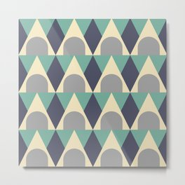 Elegant Art Deco Geometric Pattern 328 Metal Print