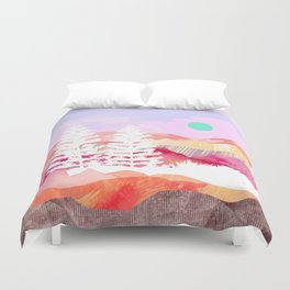 Ibiza Abstract Landscape Duvet Cover