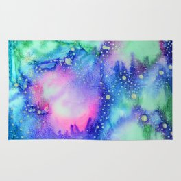 """Cosmic world"" Rug"