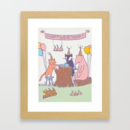 Birthday Tea Party Framed Art Print