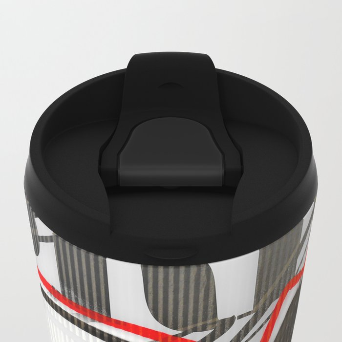 City Lovers under the Red Line Metal Travel Mug