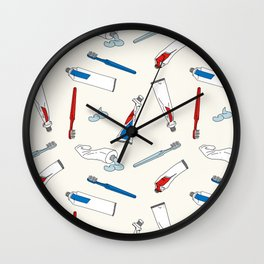 Toothpaste & Toothbrush Wall Clock