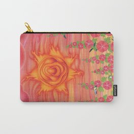 molten sun with hummingbirds and hollyhocks Carry-All Pouch
