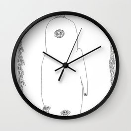 From within crown feet laughter forms Wall Clock