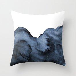 Watercolor Splash in Blue Throw Pillow