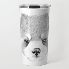'The Red Panda' stippling drawing with ink Travel Mug