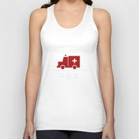 korea Tank Tops featuring Ambulance - Korea by Crazy Thoom