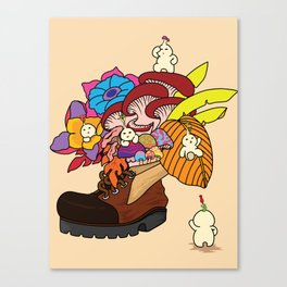 Living inside a boot Canvas Print