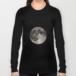The Moon  [Sans Type] Long Sleeve T-shirt