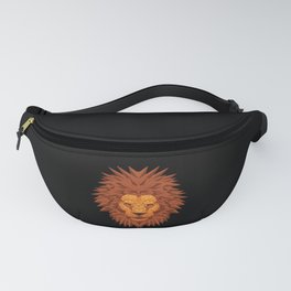 Lion head polygon lion in bright colors fierce Fanny Pack