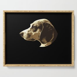 Beagle Dog Lover Dog Breed Motif Serving Tray