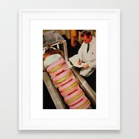 macaroon Framed Art Prints featuring Macaroon Mania by John Turck