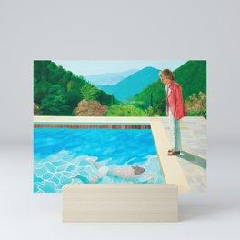 stand and swim people Mini Art Print