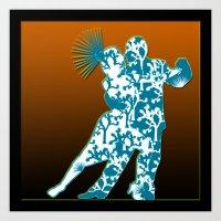 Joshua Tree Dancers by CREYES Art Print