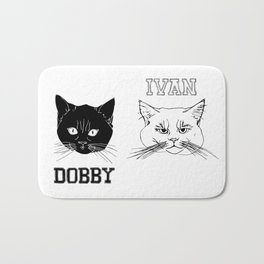 Dobby and Ivan Collegiate Cat Heads Bath Mat