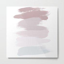 Pastel Brush Strokes Metal Print