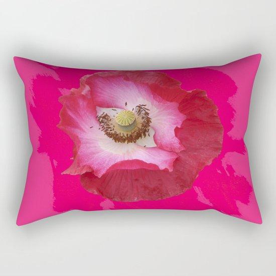 Waltz - hot Pink Rectangular Pillow