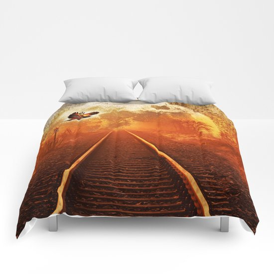 Railway to the moon Comforters