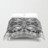 gray pattern Duvet Covers featuring Gray pattern 100115 by Veronika