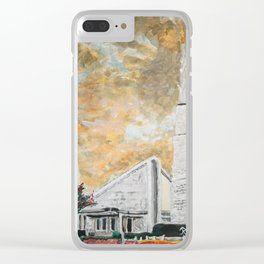 Dallas Texas LDS Temple Sunrise Clear iPhone Case