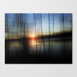 Sunset Blur Canvas Print