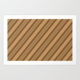 Brown stripes pattern Art Print